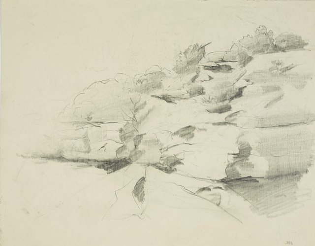 An image of Study for Cliffs at Greenwich