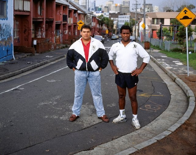 An image of Noel Collett and Shane Phillips, Eveleigh Street, Redfern