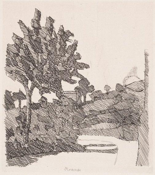 An image of Paesaggio di Grizzana by Giorgio Morandi