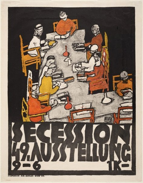 An image of Poster for the Vienna Secession 49th exhibition by Egon Schiele