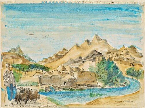 An image of The mud houses outside Isphahan by Elaine Haxton