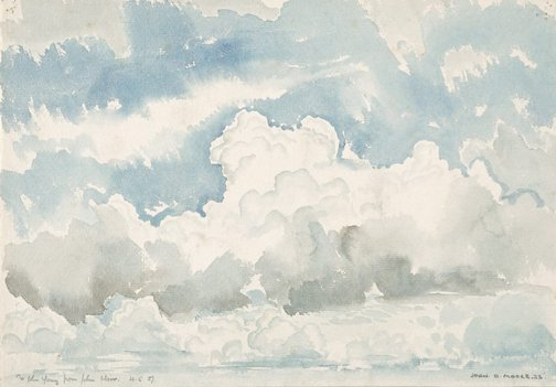 An image of Study of clouds by John D. Moore