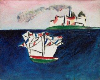AGNSW collection Sidney Nolan Untitled (St Kilda) (circa 1943) 168.2013
