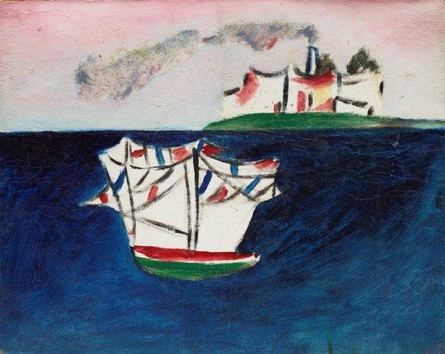 Untitled (St Kilda), (circa 1943) by Sidney Nolan