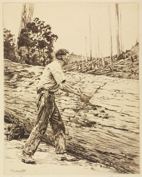 An image of A man's job, Victoria by E Warner