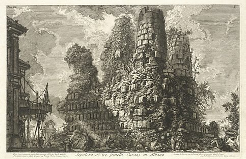 An image of Tomb of the three Curiatii brothers in Albano by Giovanni Battista Piranesi