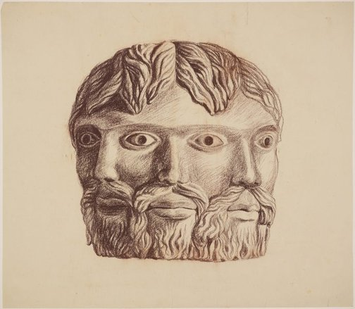 An image of (Study for triple monumental heads) by James Gleeson