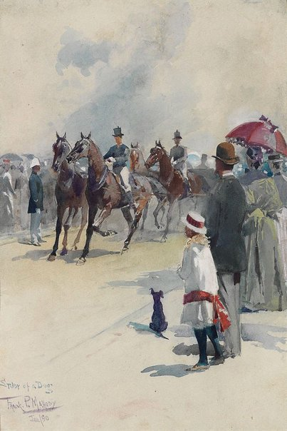 An image of Study of a dog - opening of Centennial Park by Frank Mahony