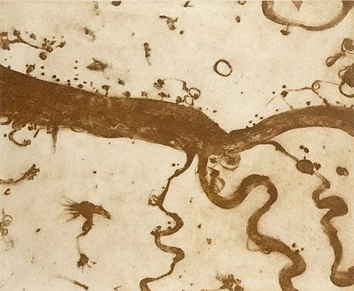 An image of Big river and little rivers by John Olsen