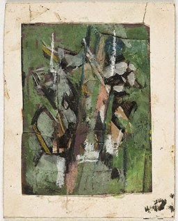 An image of (Untitled maquette for painting) by Carl Plate