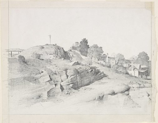 An image of The hillside by Lloyd Rees