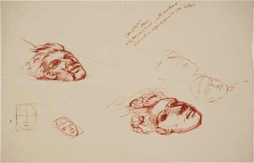 An image of (Studies for monumental head) by James Gleeson