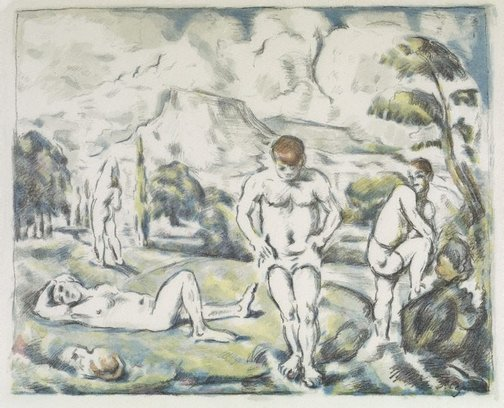 An image of Large bathers by Paul Cézanne