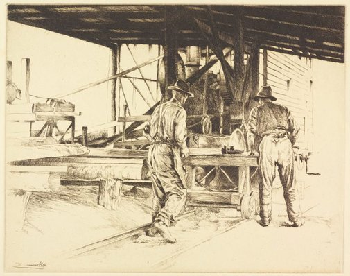 An image of Timber workers, New South Wales by E Warner