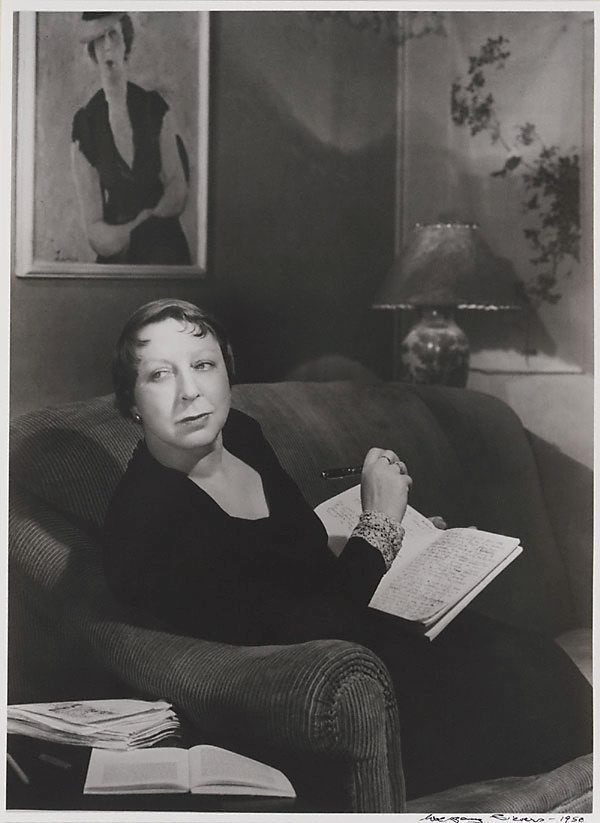 An image of The writer, Jean Campbell in her East Melbourne flat