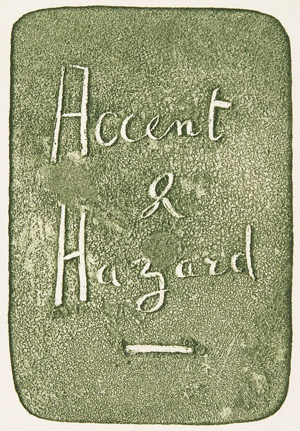 An image of Full-title for 'Accent and Hazard'