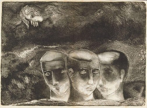 An image of Major plate for 'The blind man' by David Strachan