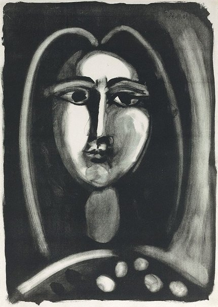 An image of Head of a woman by Pablo Picasso