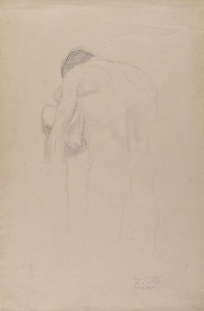 An image of Man embracing woman by Gustav Klimt