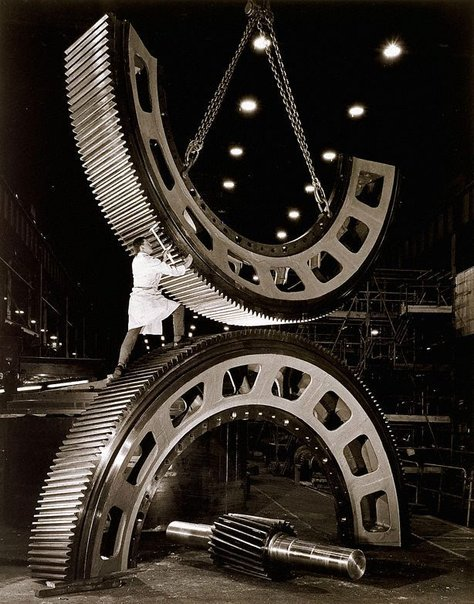 An image of Gears for mining industry at Vickers Ruwolt, Burnley, Melbourne by Wolfgang Sievers