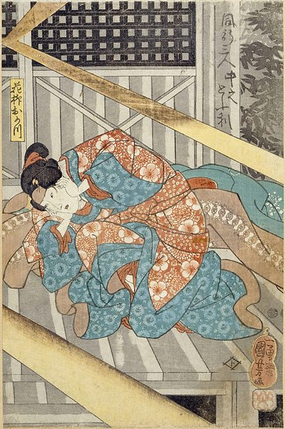 An image of Three travellers by Utagawa Kuniyoshi