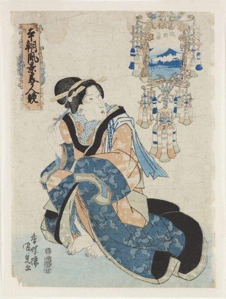 An image of Miho in Suruga Province by Utagawa Kunisada/Toyokuni III