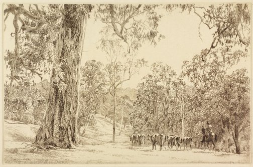 An image of (Droving scene) by E Warner