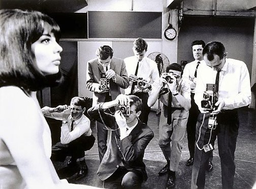 An image of Photography cadets with model, Sydney Morning Herald by Mervyn Bishop