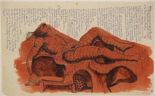 An image of Study for 'Sleep' by James Gleeson