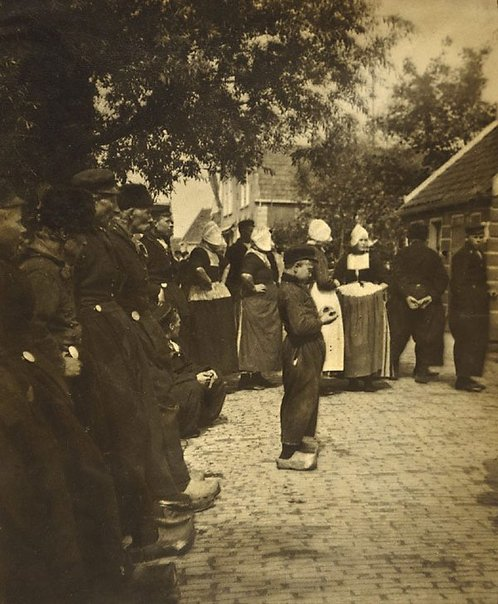 An image of Untitled (Dutch scene, small boy centre) by Francis J Mortimer