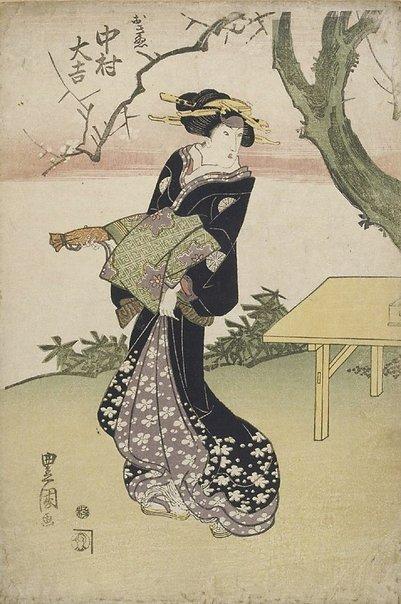 An image of Actor Nakamura Daikichi as Okinu by Utagawa Toyokuni