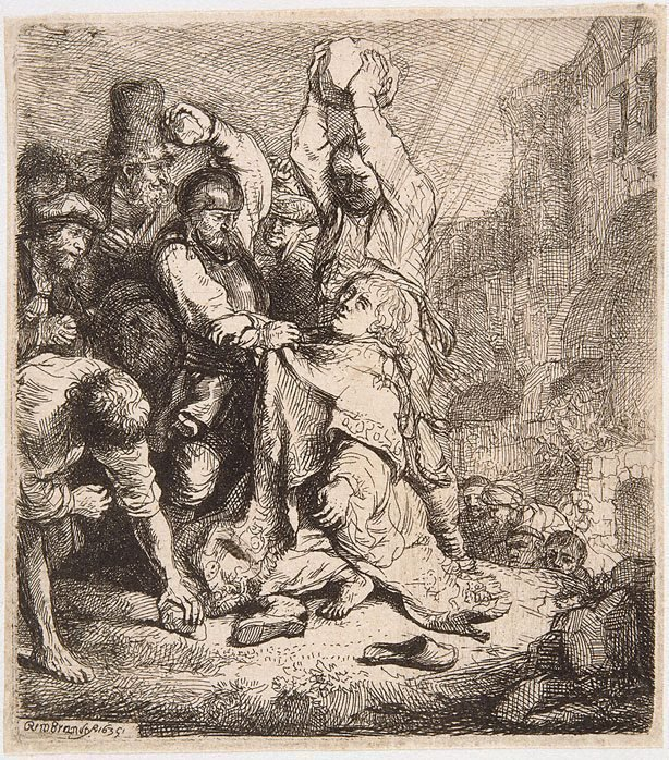 An image of The stoning of Saint Stephen