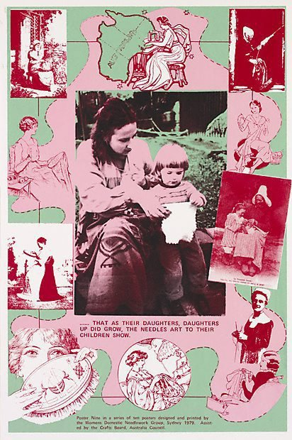 An image of That as their daughters, daughters up did grow, the needle's art to their children show