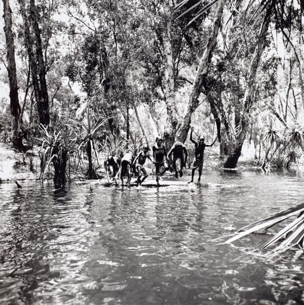 An image of Children playing in river, Mumeka
