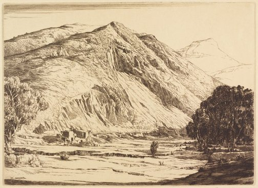 An image of The bare hills, Queenstown, Tasmania by E Warner