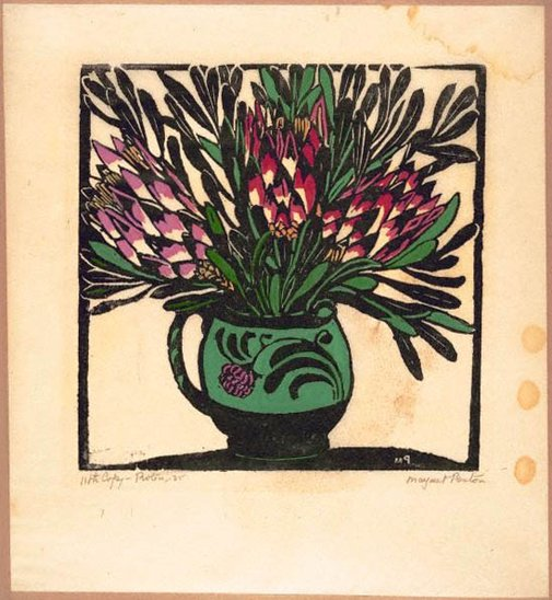 An image of Protea by Margaret Preston