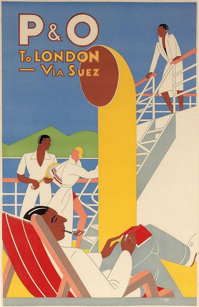 An image of P&O to London via Suez by Frank Hinder