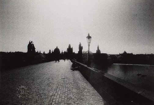 An image of Charles bridge, Prague by Lewis Morley