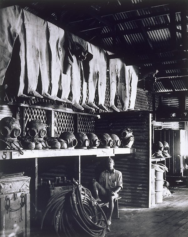 An image of Pearl divers' equipment store, Broome Western Australia