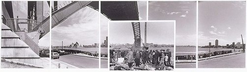 An image of The Harbour Bridge at Milson's Point 1930-1983 by John F Williams