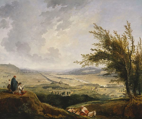 AGNSW collection Hubert Robert An extensive landscape near Paris (1781) 177.1995