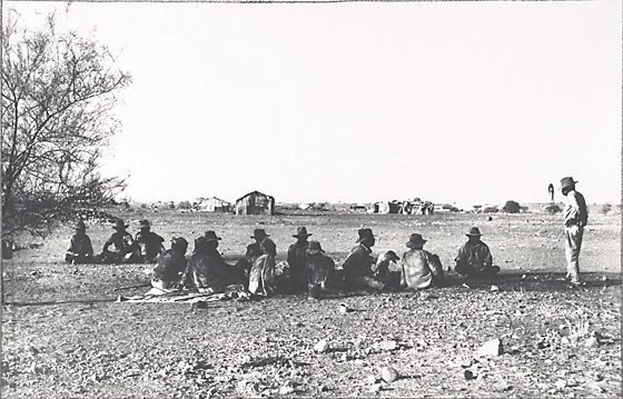 An image of Aboriginal stockmens' camp, Wave Hill cattle station, Central Australia