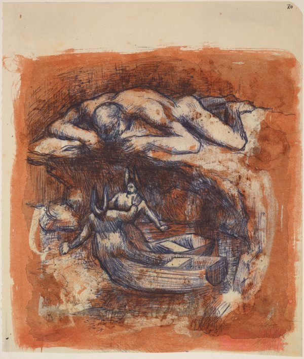 An image of Study for 'Nun punt'