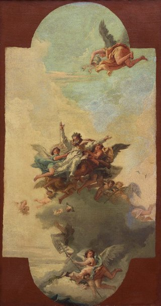 AGNSW collection Giovanni Domenico Tiepolo The apotheosis of a pope and martyr (circa 1780-1785) 178.1995