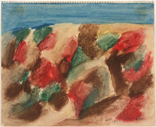 An image of Untitled (Wimmera landscape) by Sidney Nolan