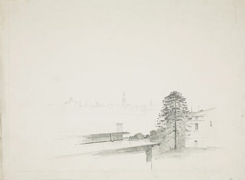 An image of Harbour view from the north shore by Lloyd Rees