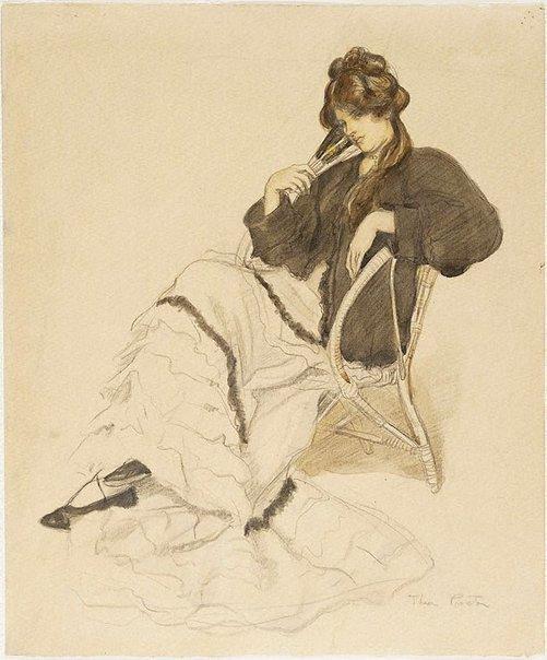 Una imagen de Dama con abanico de Thea Proctor