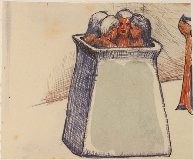 An image of Study for 'The fortress'