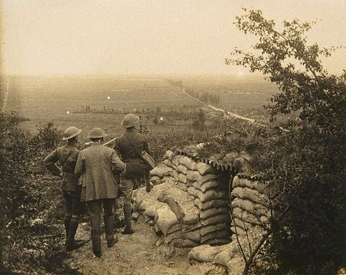 An image of Vimy Ridge, looking over Lews by Francis J Mortimer