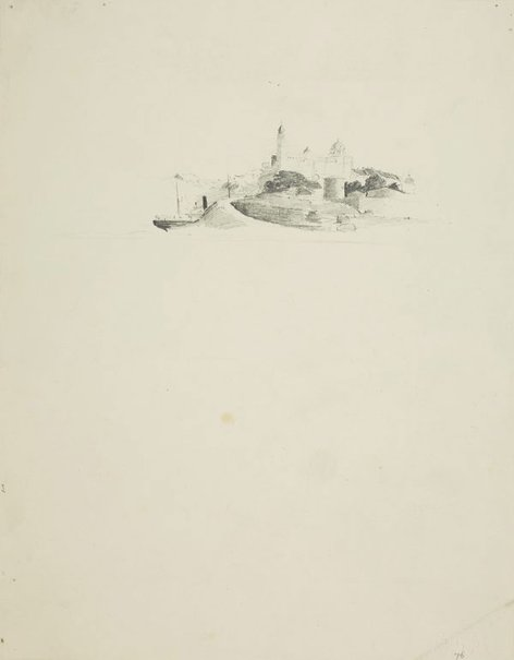 An image of Ship rounding the point by Lloyd Rees